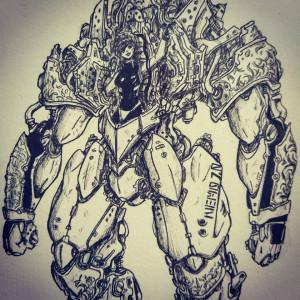 Armored suit - details